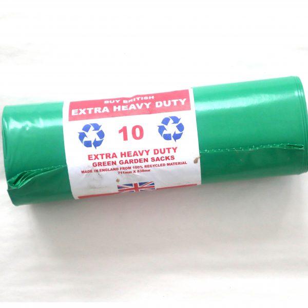 Image of polythene extra heavy duty green garden sacks | Polythene Refuse Sacks | Polythene Manufacturers