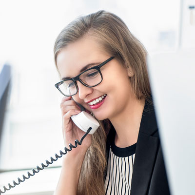 Image of a customer service rep on the phone | Plastics and Polythene Manufacturer and supplier in the UK