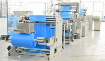 conveyor for production polyethylene garbage bags