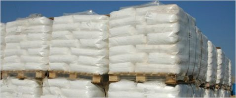 Image of Polythene Shrink Pallet Covers wrapped around pallets.
